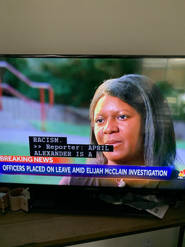 Core members calling out for #JusticeForElijahMcClain in Summer 2020