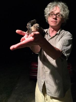Peter with injured bird