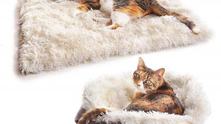 Self Warming Cat Dog Bed Mat Fluffy Pet Bed