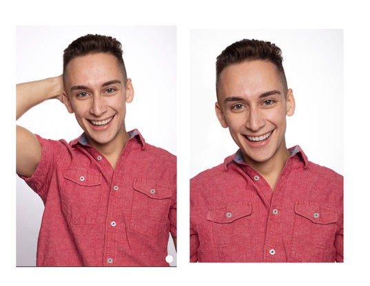A friend of mine asked if I could put his arm down for his headshot