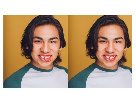 A friend of mine recently got his chipped tooth fixed, so he wanted his headshots to reflect that without going out to get new ones