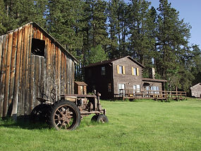 Historic Camp Custer Log Cabins in Custer SD, Old barn by Sky View Cabin