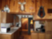 Sky View Cabin - fully equipped kitchen, Camp Custer Log Cabins Custer,Sd