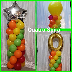 Quarto Balloon Columns with Standard Top