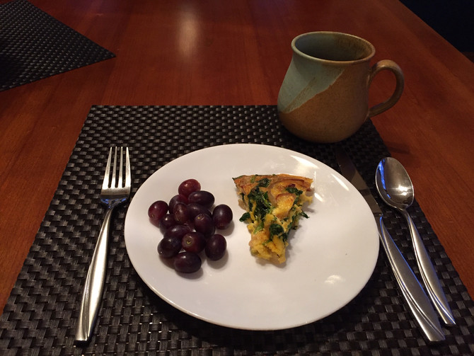 Caramelized Onion and Spinach Quiche
