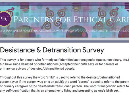 Results of PEC's Desistance & Detransition Survey