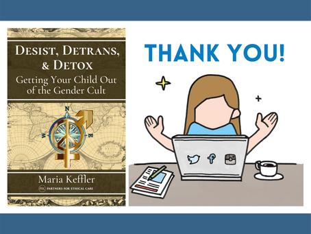 Amazon Re-Lists PEC's Desist, Detrans, & Detox Parenting Book