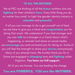 TO ALL THE MOTHERS We at PEC are thinkin