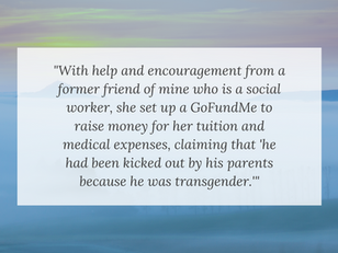 Social Worker Helps Girl Raise Money on GoFundMe for Testosterone; 2 Female Friends also Transition
