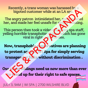 Regarding the Wi Spa scandal and a Related Propaganda Poster by SoCal Antifa