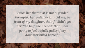 Pediatrician Tells Parent (in front of Daughter) that Daughter May Kill Herself