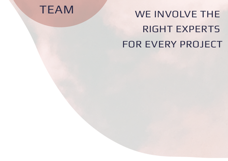 We believe in designing and delivering your project from end to end.  We involve a team of one-off experts for every project to get the best possible results.