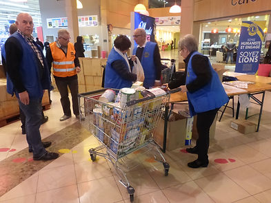 collecte banque alimentaire lions club breauchamp taverny