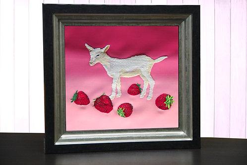 """「OKI×OBI®」奥村晃史シリーズ""""Strawberries&Goat"""""""