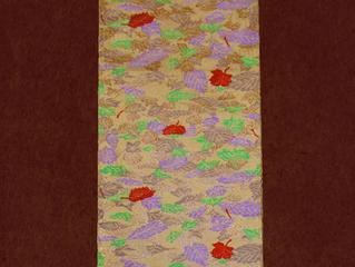 秋の帯のご紹介「本袋 漉綾 くし寒露」