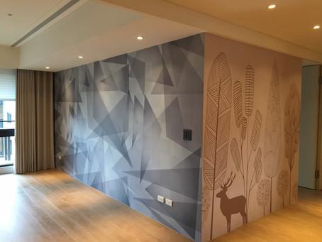 私人招待所壁面大圖設計美化