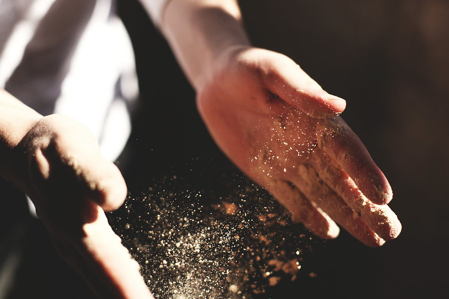 Flouring Hands