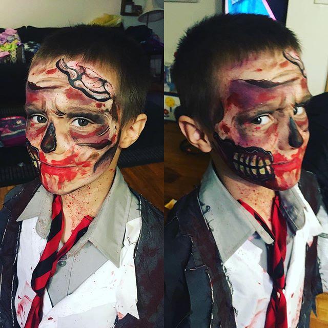 #zombie #Halloween #Halloweenpaint #hall