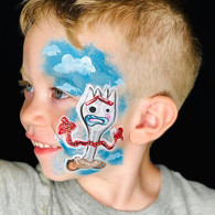Forky on a wiggly handsome boy 😂 can't