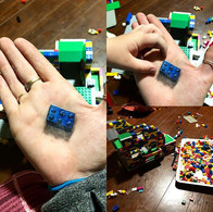 Late night LEGO date with a handsome lit