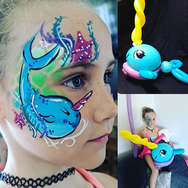 Narwhal party today ! Birthday girl was