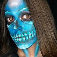 #skull #blueskull #halloween #creepy #fa
