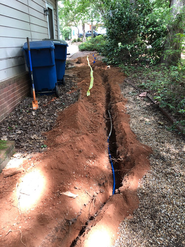 150 ft water line trench