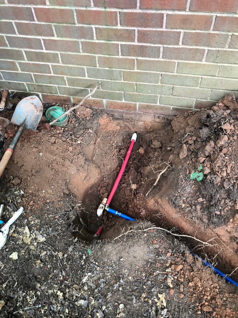 PEX water line replacement