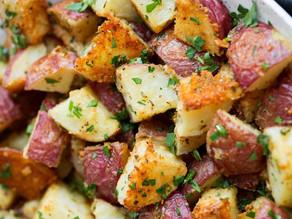 Roasted Canna Potatoes w/ Parmesan Garlic & Herbs
