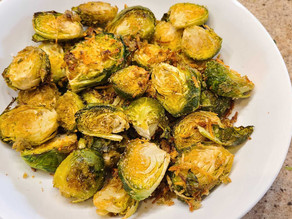 Canna Garlic-Parmesan Brussels Sprouts