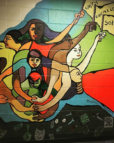 Mural at Department of Geography, Rutgers University