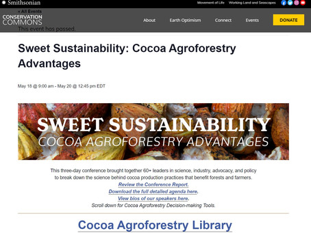 MAY 2021 - Manu and Tom participate in panel discussions at the Smithsonian Agroforestry Conference