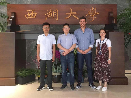 JULY 2020 - Colleagues from Zhejiang University, CNRRI, and Westlake University discuss CRN