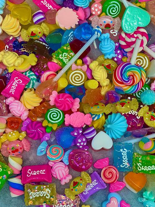 FAKE Candy Charms & Glitter Glue