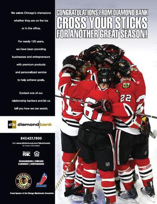 Diamond Bank ~ Blackhawks Magazine Ad.JP
