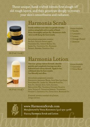 Harmonia Skin Care ~ Postcard Back.JPG