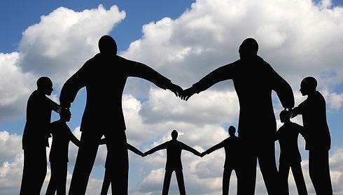 bigstock-People-Circle-Group-On-Cloud-S-
