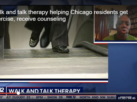 Fox32 News: Walk and talk therapy helping Chicago residents get exercise, receive counseling