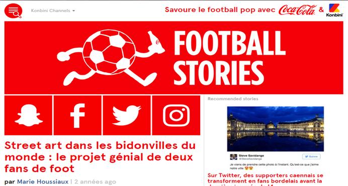 Web : Site Football Stories / KONBINI
