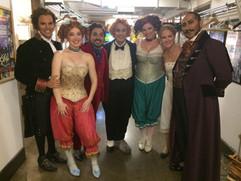 Cast of La Cenerentola - San Diego Opera L-R: David Portillo, Susanna Biller, Jose Adan Perez, Stefano de Peppo, Alissa Anderson, Lauren McNeese, Ashraf Sewailam