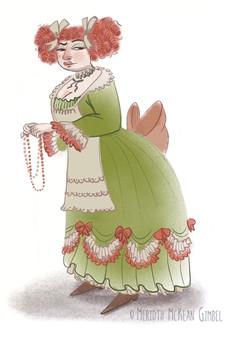 Tisbe portrait drawn by Meredith McKean Gimbell