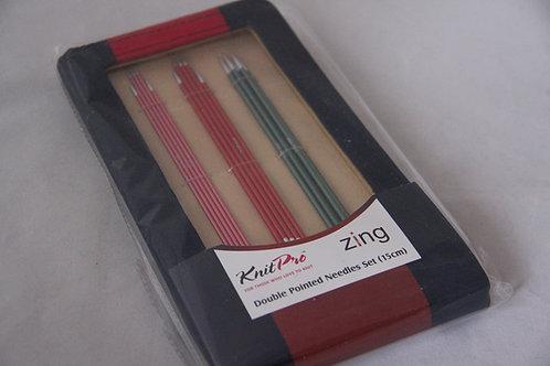 Knit Pro Zing Nadelspiel 15cm Set