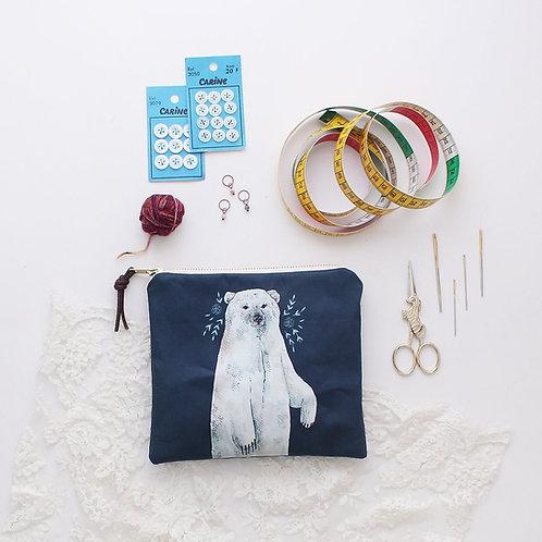 Zipper Tasche Eisbär Boris