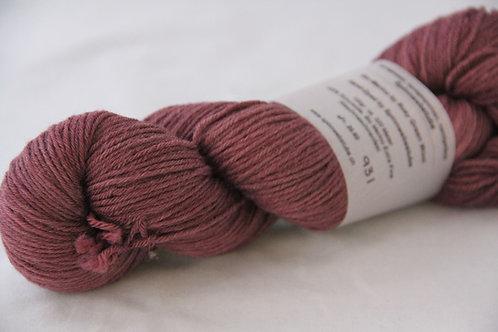 Rosy Green Wool Handdyed 931
