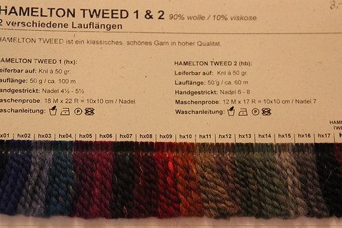 Farbkarte Hamelton Tweed BC Yarn