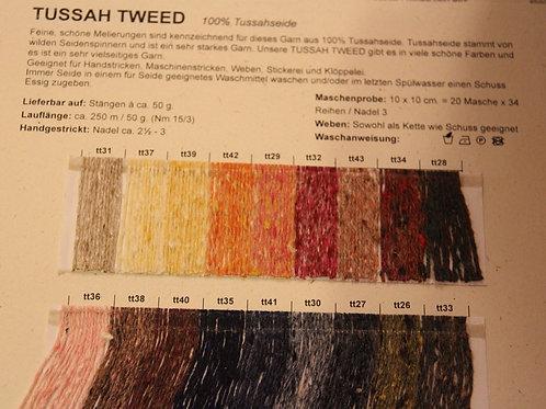 Farbkarte Tussah Tweed BC Yarn