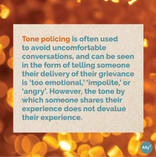 Learning 101: What is tone policing? Slide 4