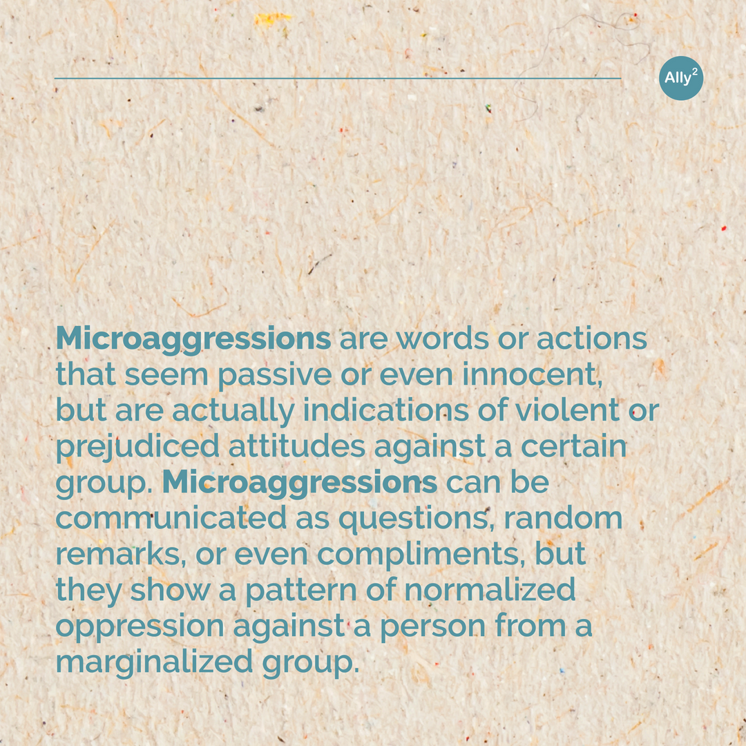What are microaggressions? Slide 2