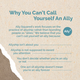 Why You Can't Call Yourself An Ally