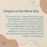 Origins of the Word Ally